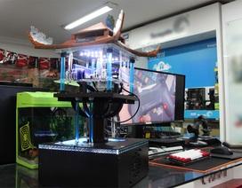 Độc đáo máy tính có hình Chùa Một Cột ở Hà Nội