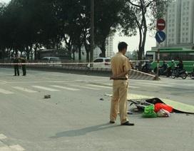 Hà Nội: Bị xe container cuốn vào gầm, người phụ nữ chết thảm