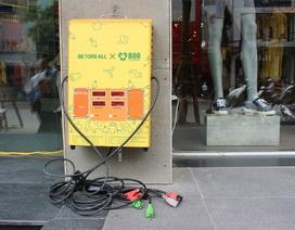 Đường phố Hà Nội lần đầu tiên có trạm sạc xe điện miễn phí