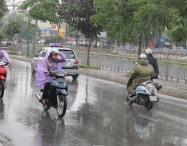 Ngày mai miền Bắc xuất hiện mưa giông