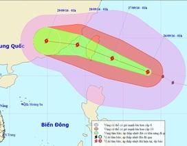 Ảnh hưởng của bão MEGI, Biển Đông có gió giật mạnh