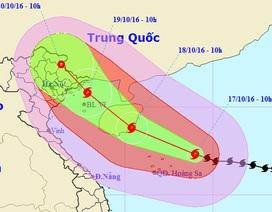 Bão số 7 hướng về Quảng Ninh - Nam Định