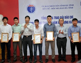 Báo Dân trí đạt 2 giải trong cuộc thi viết về ngành Y tế  Hà Tĩnh
