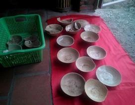 Phát hiện cổ vật thời Lê khi đào móng nhà