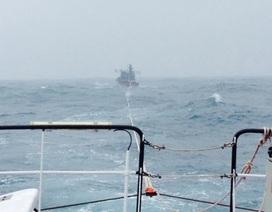 Cứu tàu cá Bình Định cùng 13 ngư dân gặp nạn ngoài biển