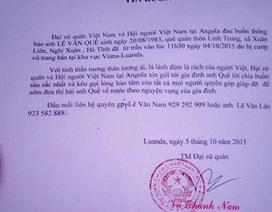 Một lao động Việt bị cướp bắn chết ở Angola