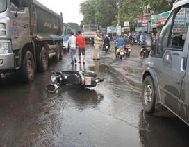 Xe container tông một phụ nữ tử vong tại chỗ, rồi bỏ chạy