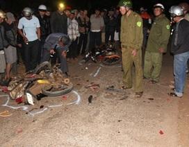 Xe máy tông nhau vỡ nát, hai thanh niên tử vong