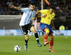 Vắng Messi, Argentina thua choáng váng trước Ecuador