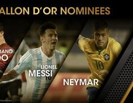 Messi, C.Ronaldo, Neymar tranh giải Quả bóng vàng 2015