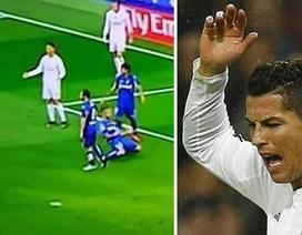 "Mải đòi penalty, C.Ronaldo ""quên"" chia vui với Benzema"