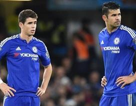 Oscar và Diego Costa suýt choảng nhau trên sân tập