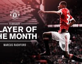 Marcus Rashford được vinh danh xuất sắc nhất MU tháng 2