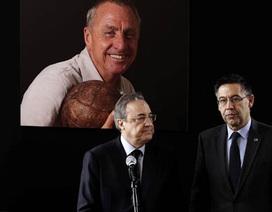 """Dẹp bỏ hận thù, Barca và Real chung tay tưởng niệm """"thánh"""" Johan"""
