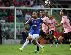 Higuain nhạt nhòa, Juventus nhọc nhằn vượt qua Palermo