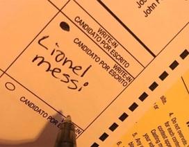 Messi nhận được 1 phiếu trong cuộc bầu cử Tổng thống Mỹ