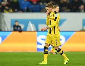 Marco Reus nhận thẻ đỏ, Dortmund suýt ôm hận trước Hoffenheim