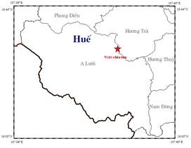 Động đất 2.5 độ richter tại Huế