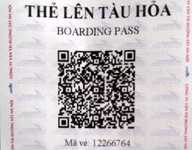 Từ hôm nay hành khách có thể sử dụng e-mail thay vé tàu