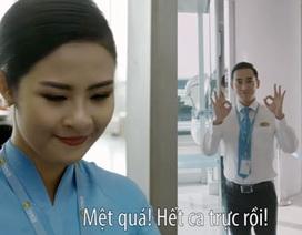 Hoa hậu Ngọc Hân, diễn viên Hứa Vĩ Văn làm nhân viên hàng không