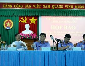 Công bố cáo trạng vụ thảm sát 6 người tại Bình Phước