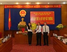 Vĩnh Phúc bầu mới Chủ tịch UBND tỉnh