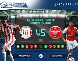 Stoke City - Arsenal: Vượt rào vào tốp bốn