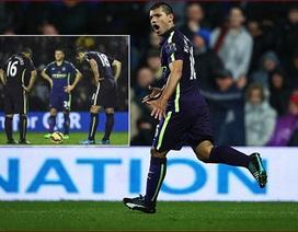 Aguero cứu Man City tránh thất bại trên sân QPR