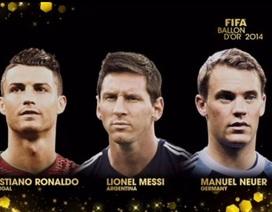 C.Ronaldo, Messi và Neuer đua Quả bóng vàng FIFA 2014