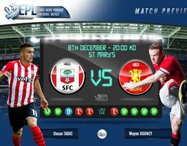 Southampton - Man Utd: Ở lại với tốp bốn