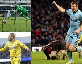 """Man City """"thoát nạn"""" nhờ bàn thắng muộn"""