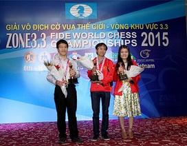 Việt Nam giành trọn 3 vé dự giải cờ vua thế giới 2015