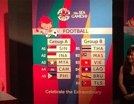 U23 Việt Nam cùng bảng với Thái Lan, Malaysia ở SEA Games 28
