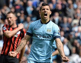 """Aguero tỏa sáng, Man City """"chơi tennis"""" trước QPR"""
