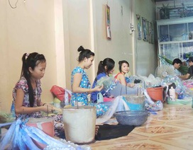 Làng nghề đan lưới nhộn nhịp đón mùa nước nổi