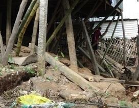 Hoang mang vì đất sụt lún ăn sâu vào nhà