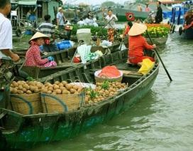 Cần Thơ: Chợ nổi vào xuân