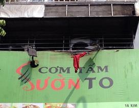 Hà Nội: Hỏa hoạn tại tiệm cơm tấm, hai bình gas cháy đen