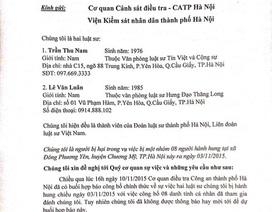 Hai luật sư bị hành hung gửi thư tới Thiếu tướng Nguyễn Đức Chung