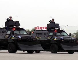 Ngắm dàn xe đặc chủng bảo vệ Đại hội Đảng