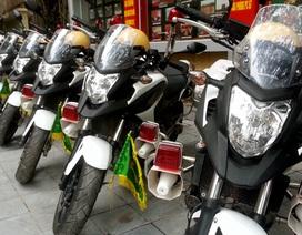 Hình ảnh dàn xe dẫn đoàn của Cảnh sát giao thông Hà Nội