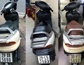 Hà Nội: Phát hiện 3 xe Spacy gian trong chưa đầy 1 tiếng đồng hồ