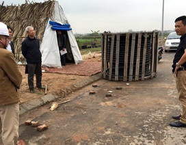 Hà Nội: Điều tra vụ dùng xe cẩu cướp 6 tấn cáp điện trong công trường