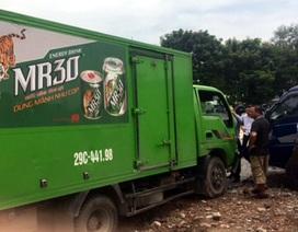 Hà Nội: Xe tải mất lái, tông 3 ô tô