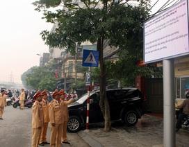 Hà Nội lắp màn hình led tuyên truyền luật giao thông