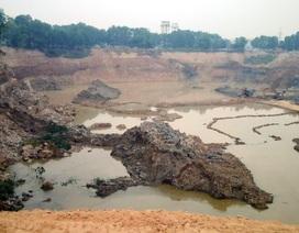 Khai thác trái phép hàng triệu mét khối đất sát sân bay Nội Bài