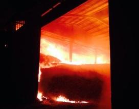 Kho mì cháy suốt 12 tiếng, ngọn lửa vẫn chưa được khống chế