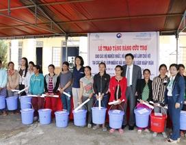 Cấp 3.000 bộ dụng cụ vệ sinh cho phụ nữ và trẻ em vùng hạn