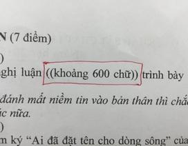 Băn khoăn về đề khảo sát kì thi THPTQG môn Văn ở Hà Nội