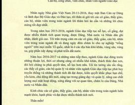Bộ trưởng Phùng Xuân Nhạ gửi thư chúc mừng giáo viên nhân ngày 20/11